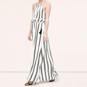 NWT Ann Taylor Loft black & white maxi dress